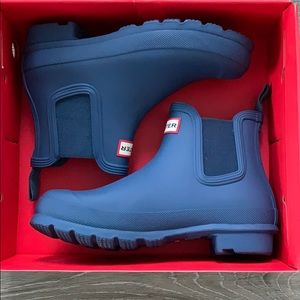 Hunter Blue Chelsea Boots